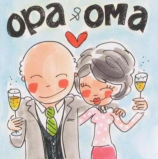 Magnifiek Kaart Opa & oma &TW66